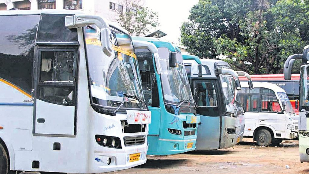 8 tourist buses seized by Telangana RTA for violating rules