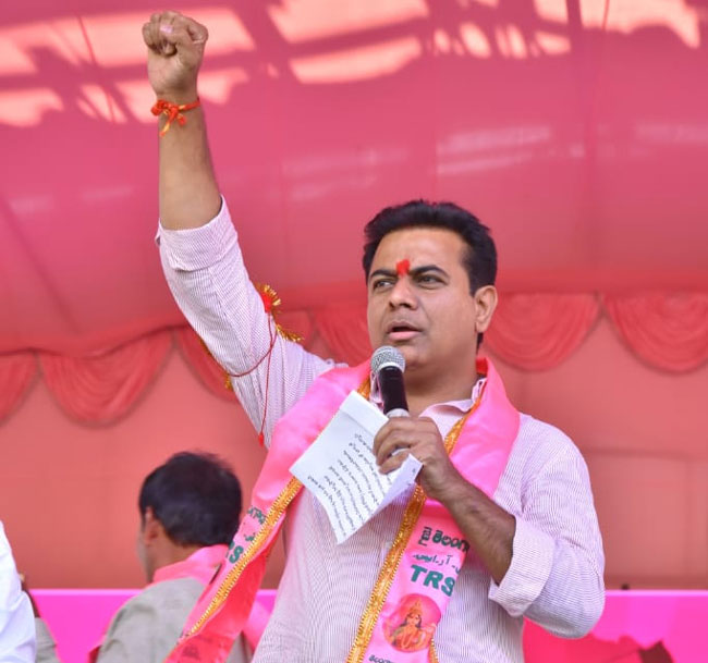 KTR to launch TRS election campaign from Zaheerabad