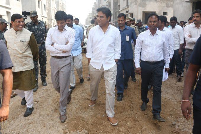 KTR makes surprise visit to Sircilla district