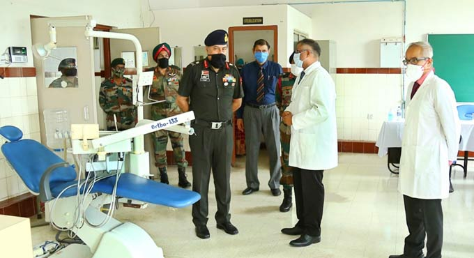 Southern Command COS visit Secunderabad Military Station