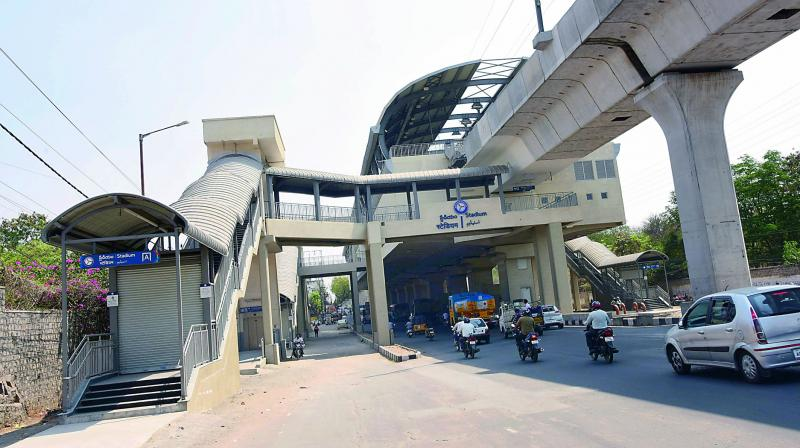 Hyderabad Metro will  provide underground parking at four stations