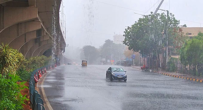 Moderate rainfall records in Hyderabad on Friday