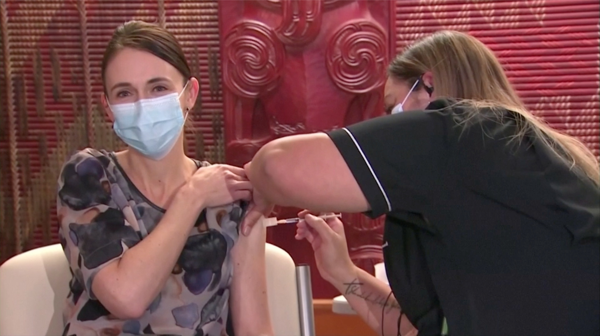 New Zealand PM receives  first shot of Pfizer Covid-19 vaccine