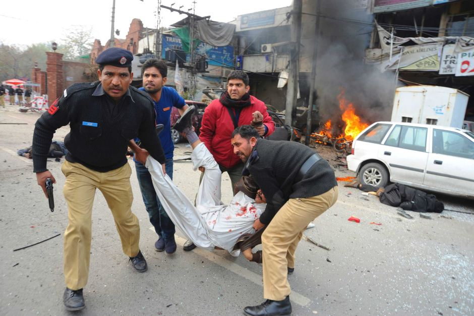 Six people killed in a suicide blast in Lahore