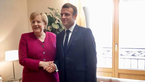 Macron floats backing Merkel as head of EU
