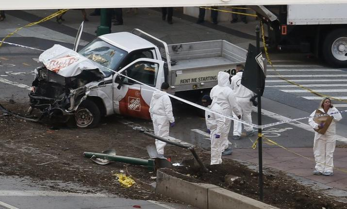 8 killed as truck plows into pedestrians in downtown NYC terror attack