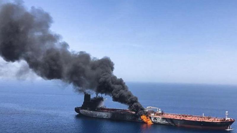 Iran says oil tanker struck by rockets off Saudi Arabia