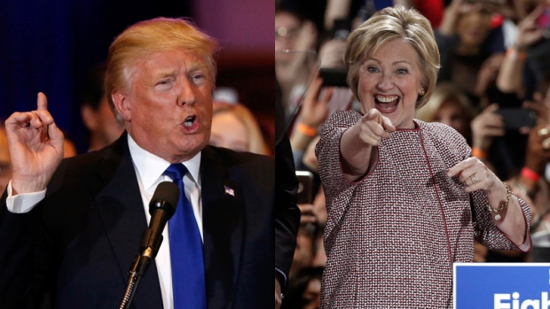 Trump wins five while Clinton emerges in four primaries