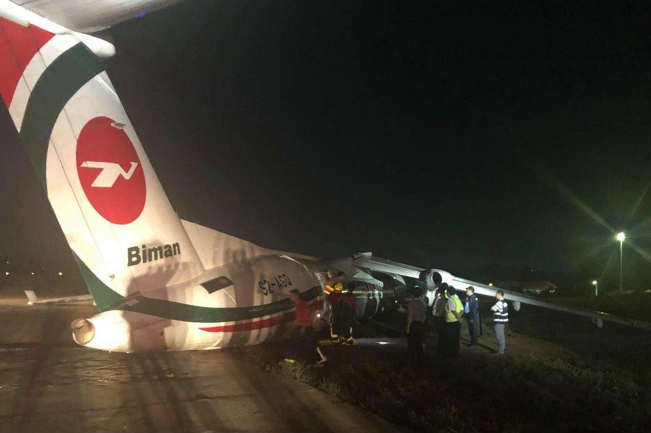 Biman Bangladesh Airlines plane crash lands in Yangon