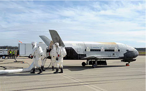 US drone on mystery mission returns to Earth after 2 years in space