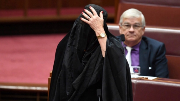 Australian senator gets backlash for wearing burqa in Parliament