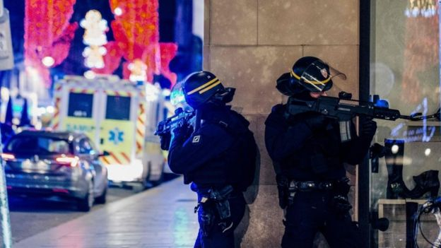 Strasbourg shooting: Gunman at large after three killed and 12 injured