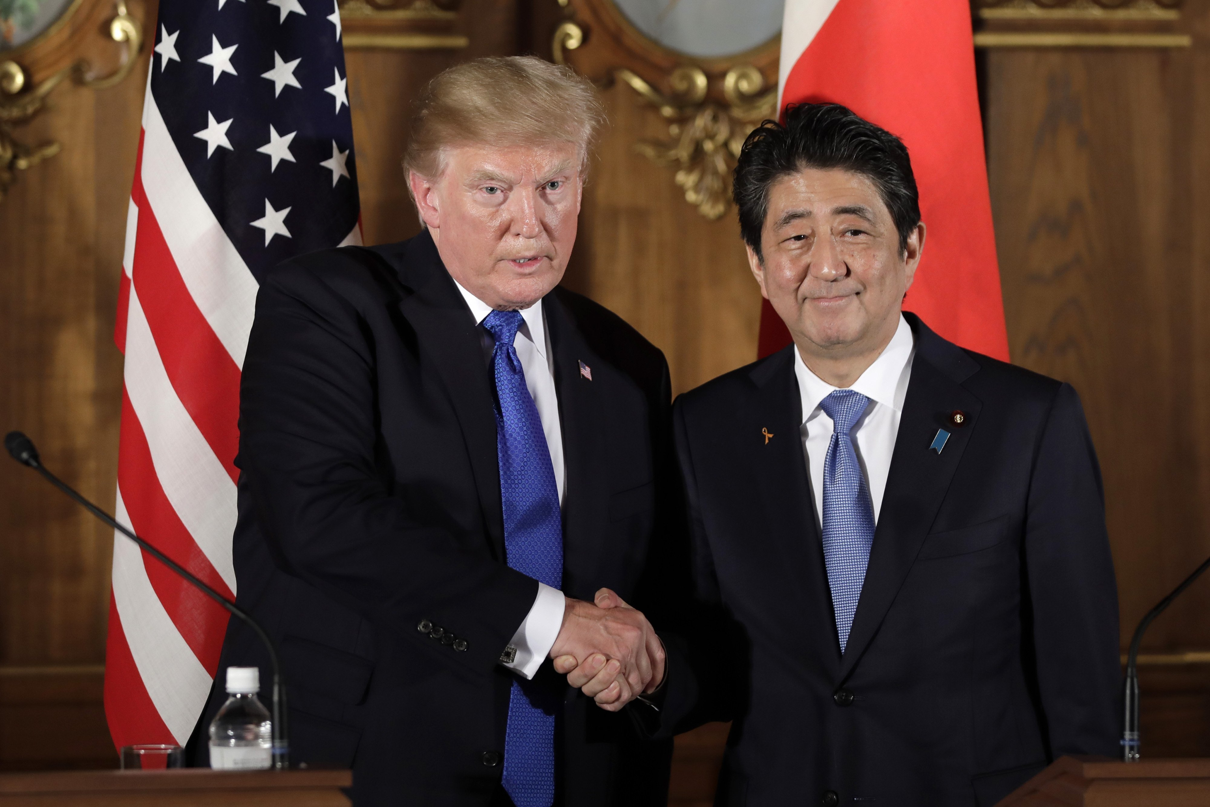 Trump addresses Japan over trade gap, expects good things from North Korea