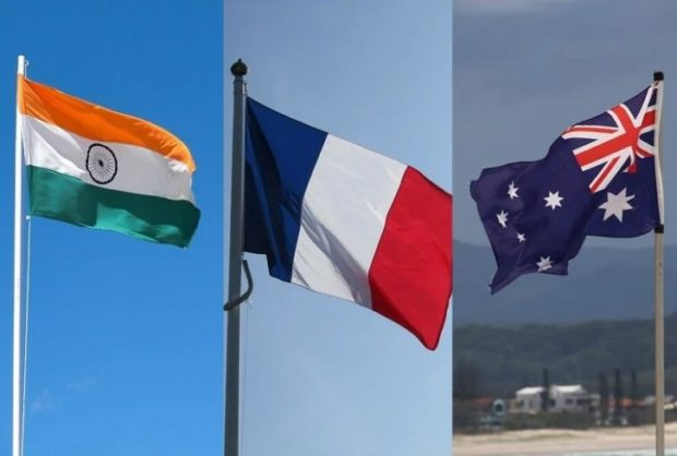 Senior officials of India, France and Australia discuss further cooperation in Indo-Pacific region