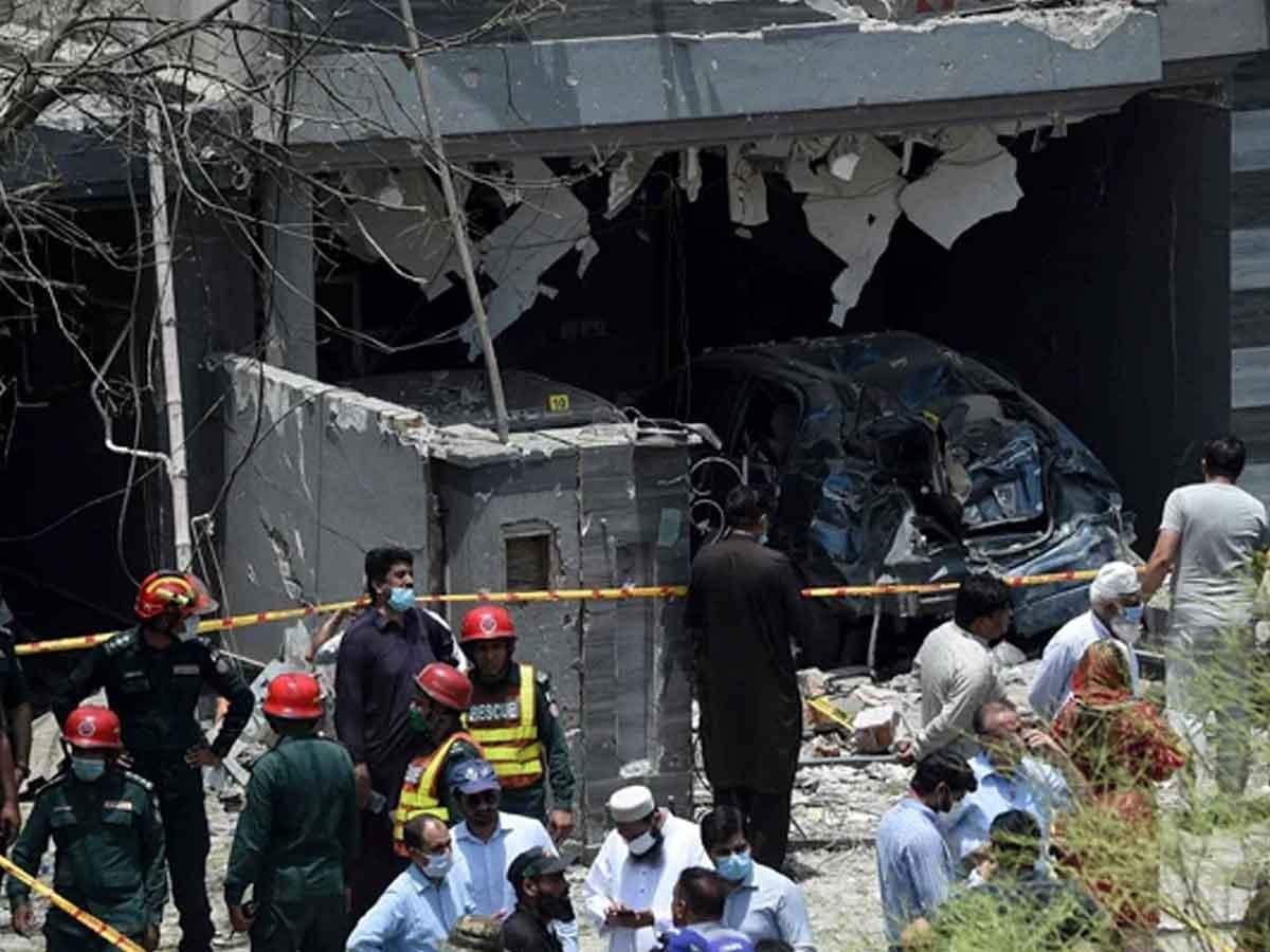 Blast near Hafiz Saeed