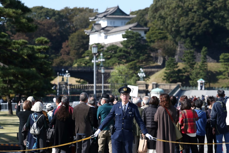 Thousands gather ahead of rare Japan imperial parade