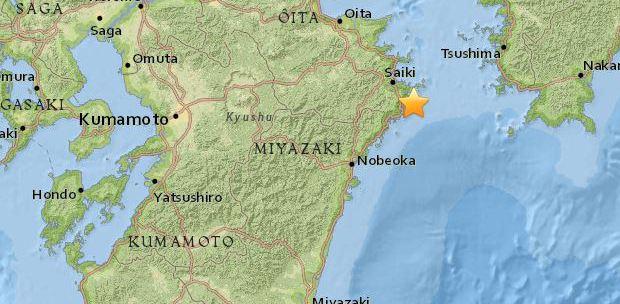 5.4 magnitude earthquake strikes off Japan