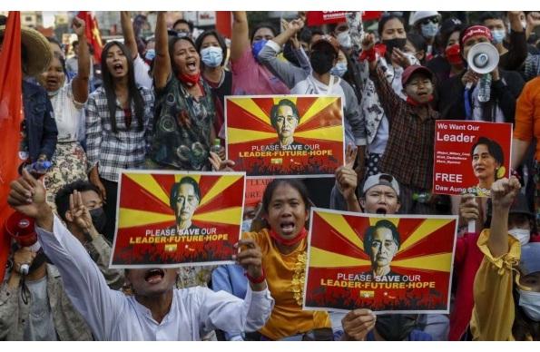 ukslapssanctionsagainstmyanmargovtasinjuredprotesterdies