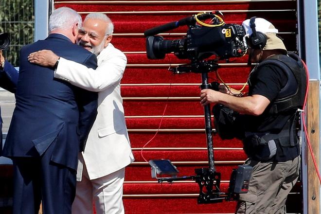 Welcome to Israel, my friend Modi: Netanyahu recieves  Modi at Ben Gurion airport