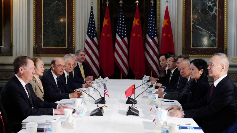 US, China top officials begin fresh round of negotiations to reach trade deal
