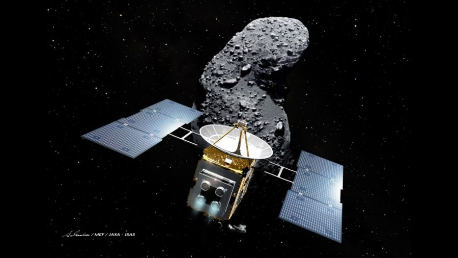 Japanese spacecraft starts year-long journey home from asteroid