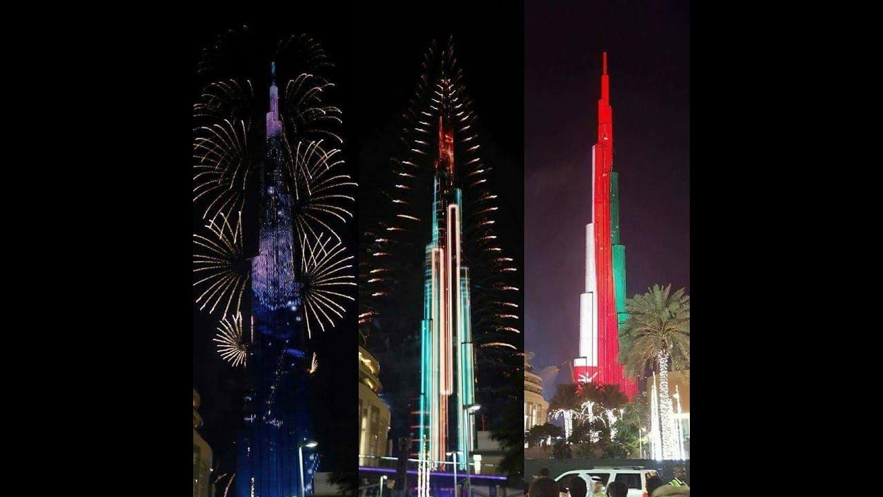 New world record as Burj Khalifa lights up for 2018