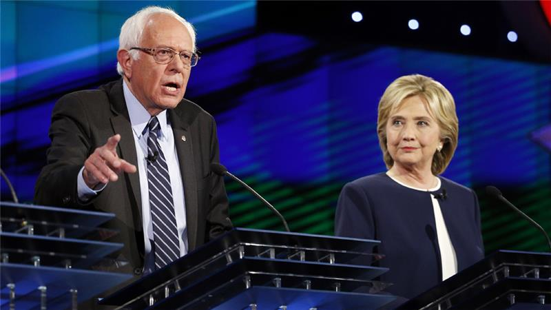 Hillary, Sanders clash over policy issues