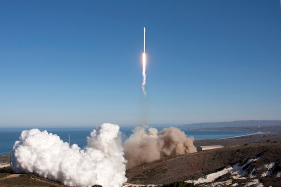 SpaceX Falcon 9 Rocket launched from California