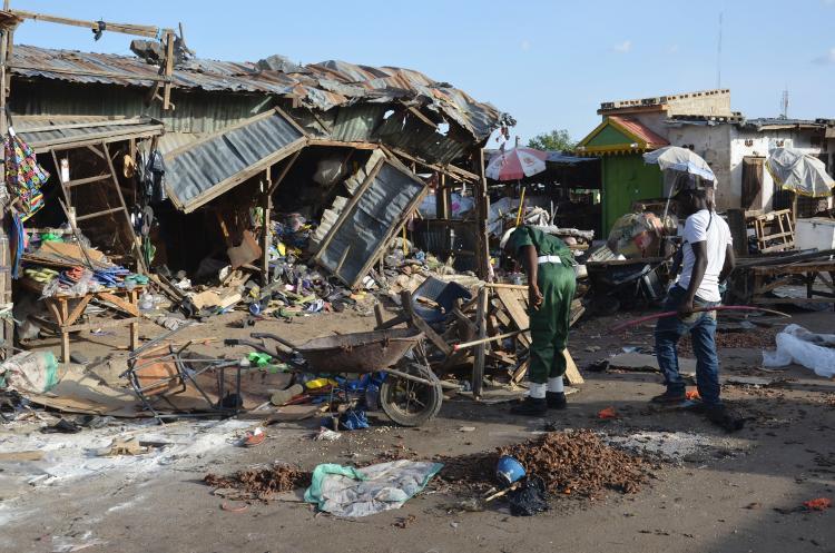 Suicide bomb attack kills three people  in Nigeria