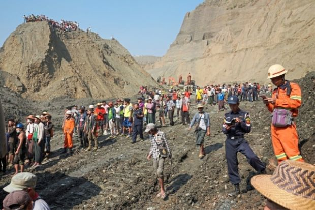 50 people feared killed in landslide at Myanmar jade mine