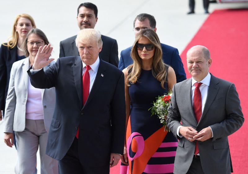 Massive protest ahead of G20 summit as Trump arrives in Hamburg
