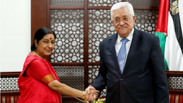 Entire Indian leadership committed to Palestinian cause: Sushma Swaraj