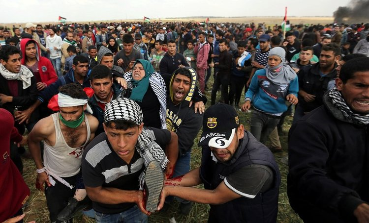 Israeli forces killed seven Palestinians in border protest
