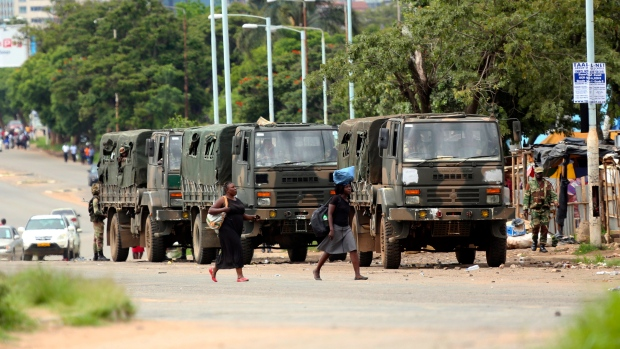 Military deploys in Zimbabwe fuel hike protests; 5 killed