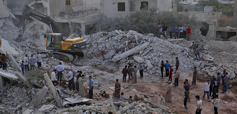51 civilians killed in suspected air strikes by Russian jets in Syria