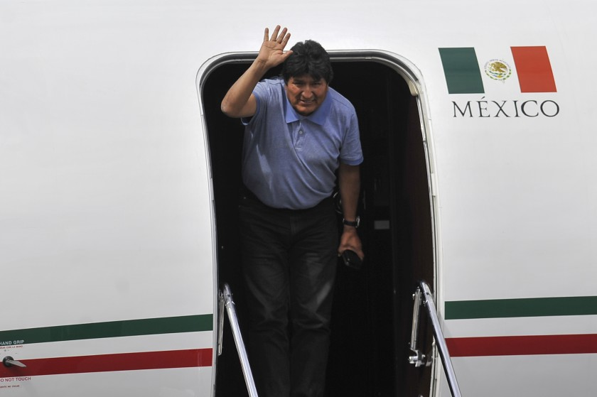 Former Bolivian Prez Evo Morales arrives in Mexico