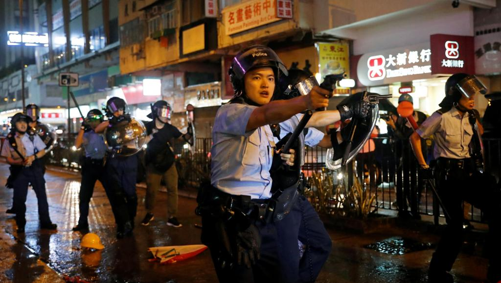 Hong Kong Police fired gun, used water canon on protestors