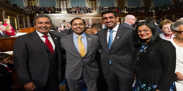 Four Indian-American Congressmen from the Democratic party re-elected to the US House of Representatives
