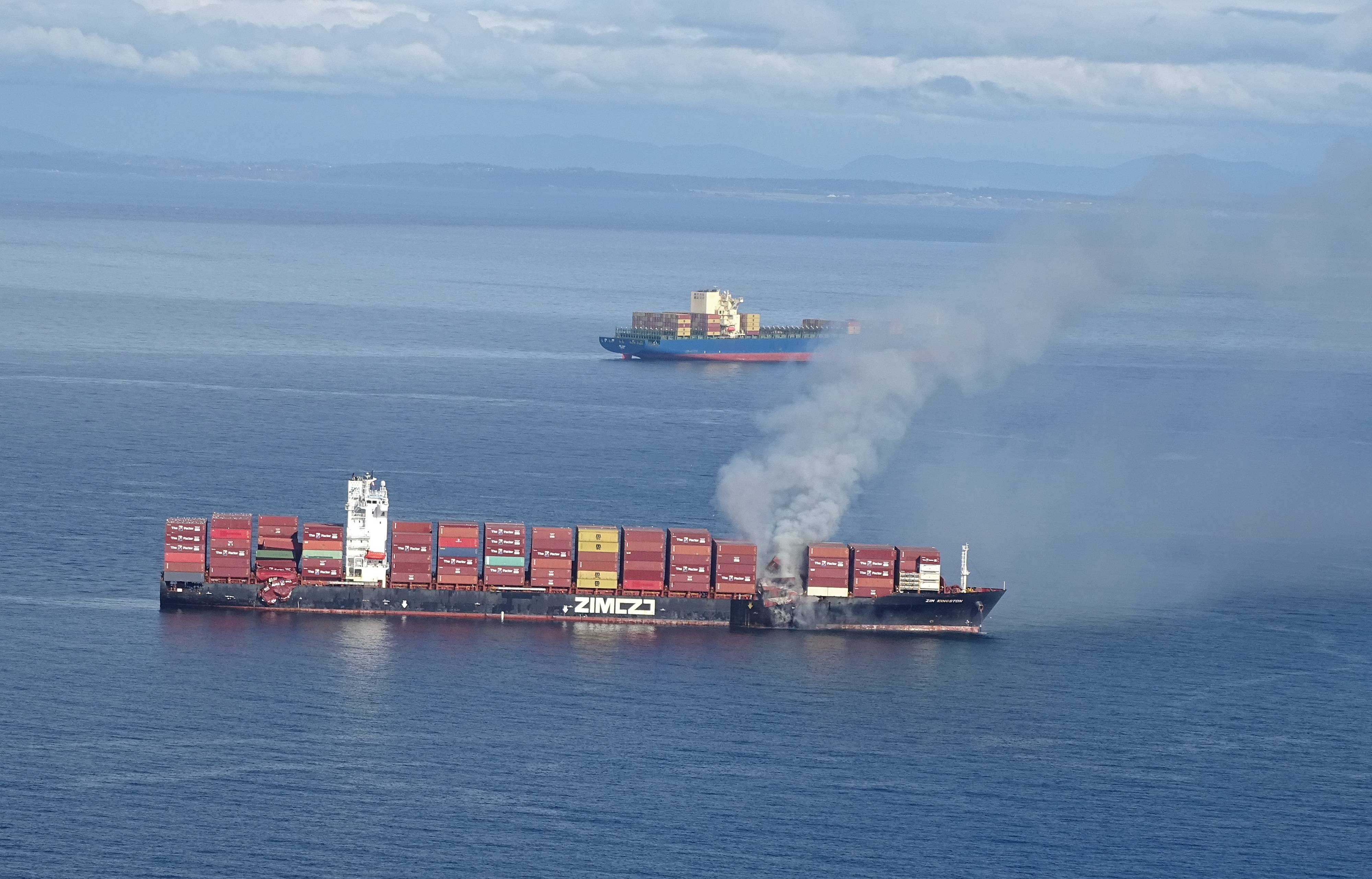 Fire breaks out on cargo ship off British Columbia