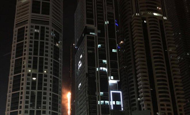 Fire in Dubai residential skyscraper , none injured