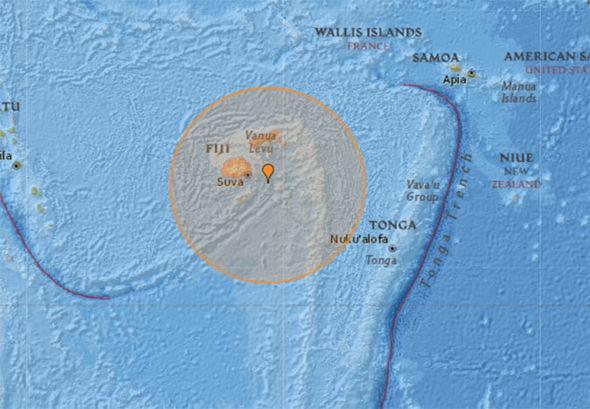 Fiji earthquake: Pacific islands ROCKED by HUGE 7.8 magnitude earthquake