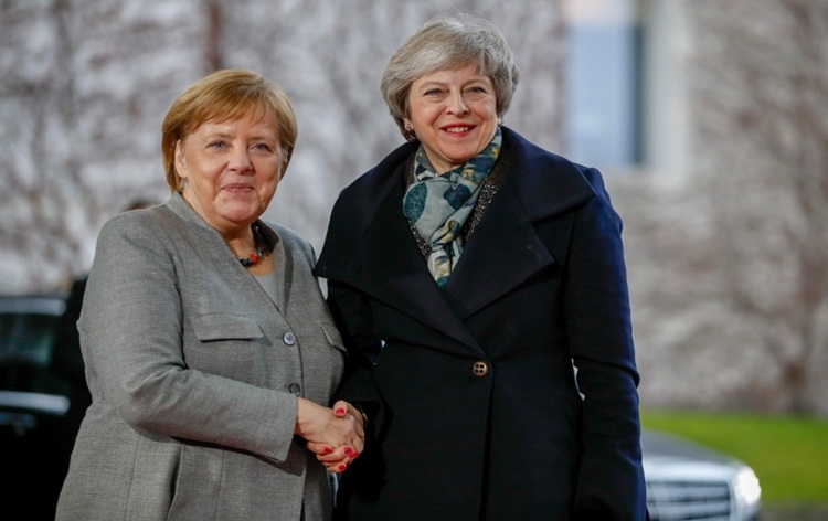 British PM holds talks with German Chancellor over delay of Brexit deal