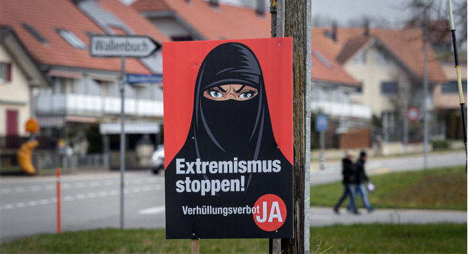 People voted in favour of banning full face coverings in Switzerland