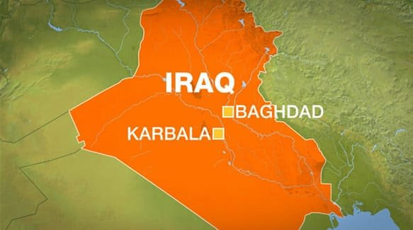 12 people killed in bomb explosion near holy city of Karbala in Iraq