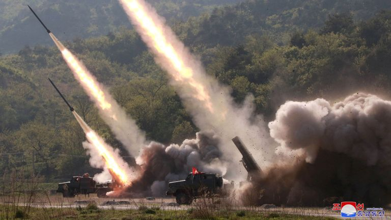 North Korea fires two projectiles toward East Sea