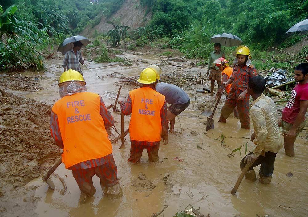 12 people killed in Bangladesh landslide