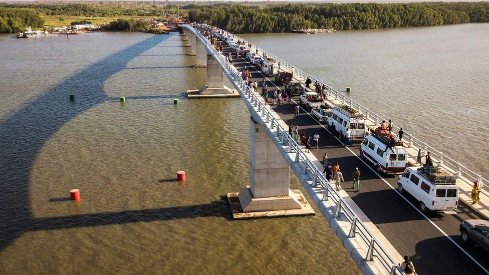 The Gambia River bridge set to end