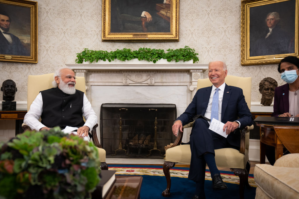 PM Modi meets US President Joe Biden at Oval Office in White House