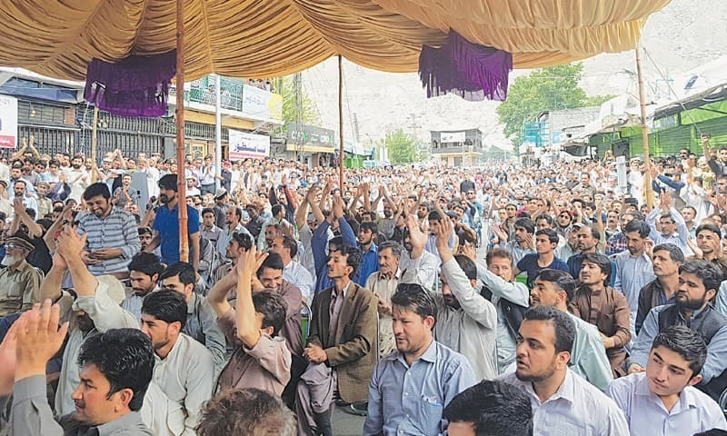 Several injured during protest against Pakistan