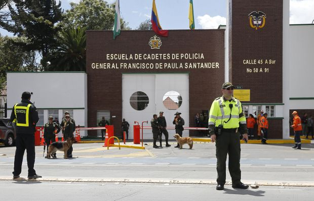10 people killed in car bombing at police academy in Bogota, Columbia